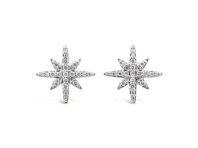 14K Vanilla Gold® Earrings with Vanilla Diamonds® 1/3 cts. | ABSQ 12