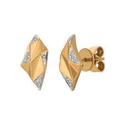 14K Honey Gold™ Earrings with - Diamonds 1/20 cts. | ABSV 5
