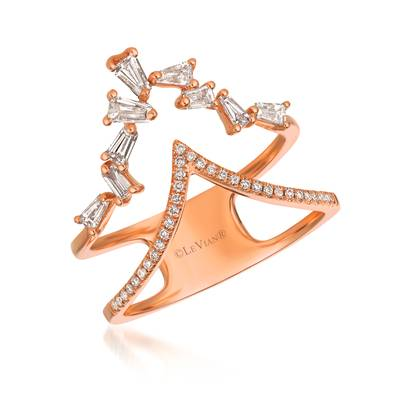 14K Strawberry Gold® Ring with Vanilla Diamonds® 1/3 cts.,  1/10 cts. | ABSY 80