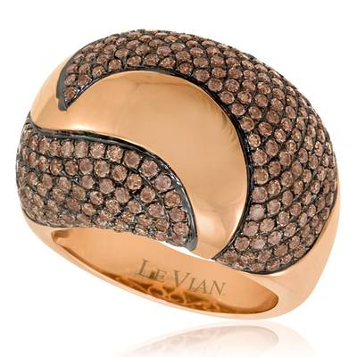 14K Strawberry Gold® Ring with Chocolate Diamonds® 2 cts. | ASKC 5