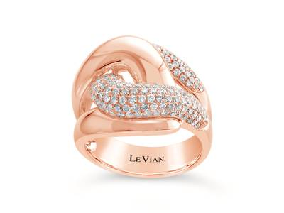 14K Strawberry Gold® Ring with Vanilla Diamonds® 1 cts. | ASMJ 29