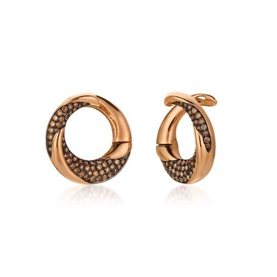 14K Strawberry Gold® Earrings with Chocolate Diamonds® 1/2 cts. | ASMV 17