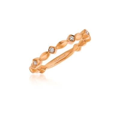 14K Strawberry Gold® Ring with Vanilla Diamonds® 1/20 cts. | ASND 101