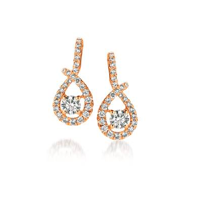 14K Strawberry Gold® Earrings with Vanilla Diamonds® 3/8 cts. | ASNG 1