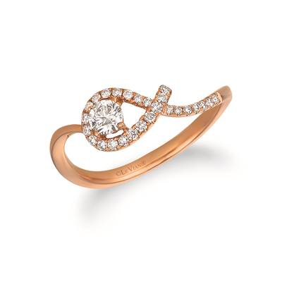 14K Strawberry Gold® Ring with Vanilla Diamonds® 1/3 cts. | ASNG 2