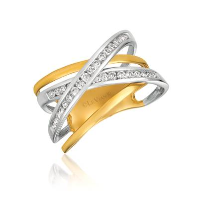 14K Two Tone Gold Ring with Vanilla Diamonds® 1/3 cts. | ASNQ 31