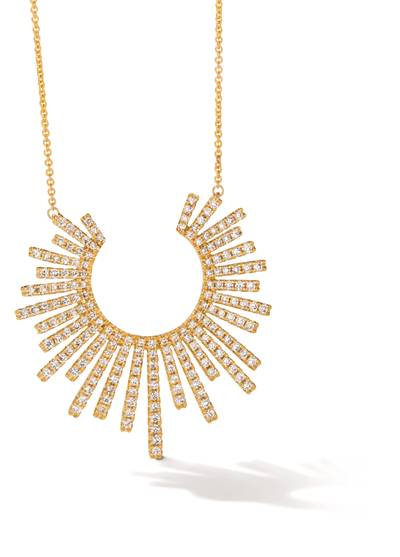 14K Honey Gold™ Necklace with Vanilla Diamonds® 1  1/4 cts. | ASNU 37
