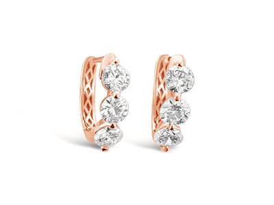 14K Strawberry Gold® Earrings with Vanilla Diamonds® 1  7/8 cts. | BAMG 216A
