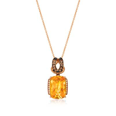 14K Strawberry Gold® Cinnamon Citrine® 5  1/2 cts. Pendant | BVCM 16CT