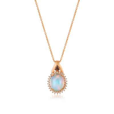 14K Strawberry Gold® Neopolitan Opal™ 1  5/8 cts. Pendant | BVCM 28