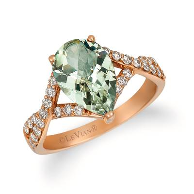 14K Strawberry Gold® Mint Julep Quartz™ 2  1/3 cts. Ring with Nude Diamonds™ 3/8 cts. | BVJY 5