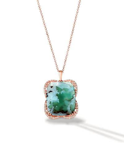 18K Strawberry Gold® Aquaprase Candy 27 1/6 cts. Pendant | BVLO 1