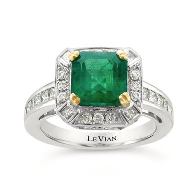 18K Vanilla Gold® Costa Smeralda Emeralds™ 2  1/2 cts. Ring | CONE 17