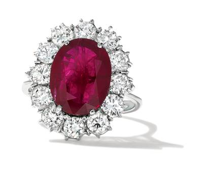 18K Vanilla Gold® Passion Ruby™ 5  3/8 cts. Ring | CONG 150