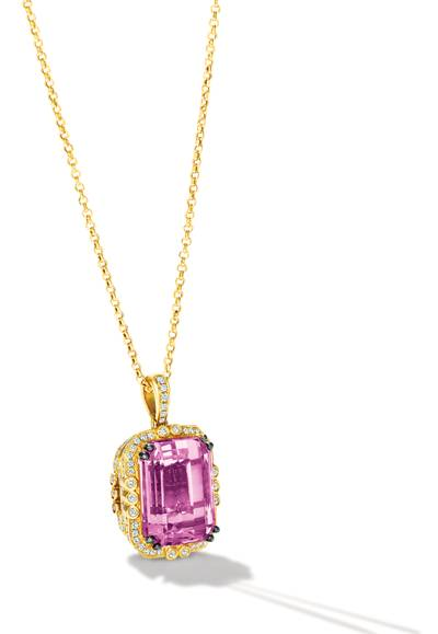 18K Honey Gold™ Kunzite 17 3/8 cts. Pendant | COT 1052