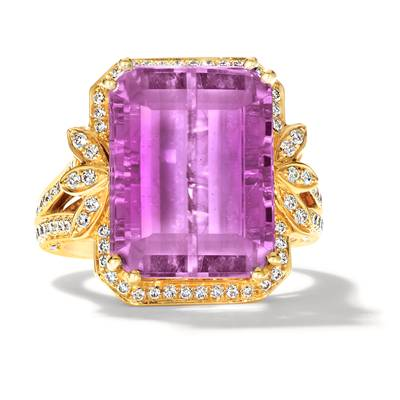 18K Honey Gold™ Kunzite 17 1/8 cts. Ring | COT 1053