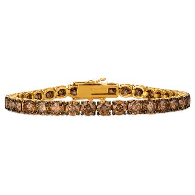18K Honey Gold™ Bracelet with Chocolate Diamonds® 17 1/4 cts. | DEKI 103