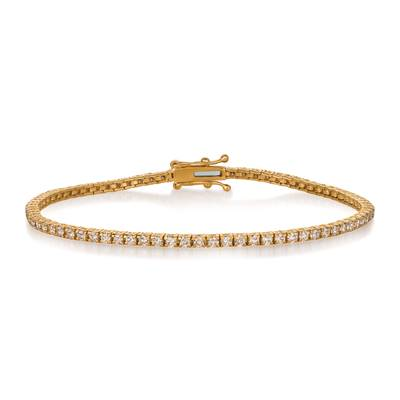 14K Honey Gold™ Bracelet with Nude Diamonds 2 cts. | DEKI 1037