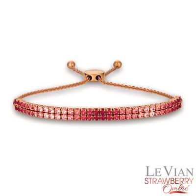 14K Strawberry Gold® Strawberry Ombré® 3 cts. Bolo Bracelet | DEKI 1288