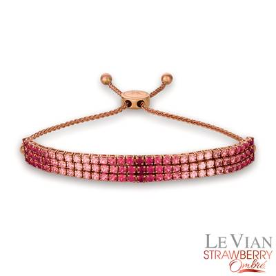 14K Strawberry Gold® Strawberry Ombré® 5 cts. Bolo Bracelet | DEKI 1289