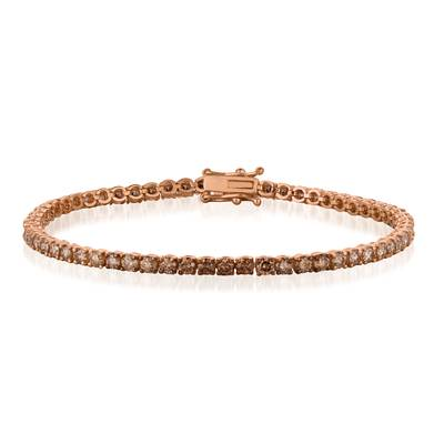 14K Strawberry Gold® Bracelet with Ombre Chocolate Diamonds® 5 cts. | DEKI 156