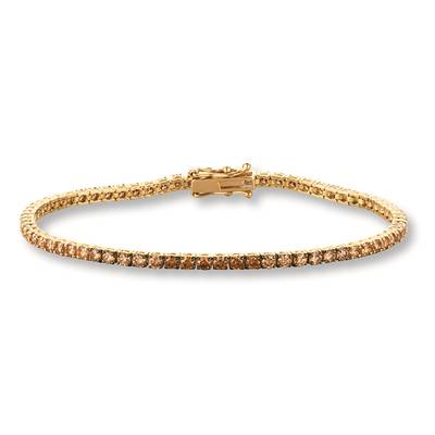 14K Honey Gold™ Bracelet with Chocolate Ombré Diamonds® 3 cts. | DEKI 157YG