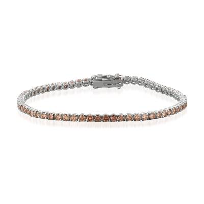 14K Vanilla Gold® Bracelet with Ombre Chocolate Diamonds® 4 cts. | DEKI 158