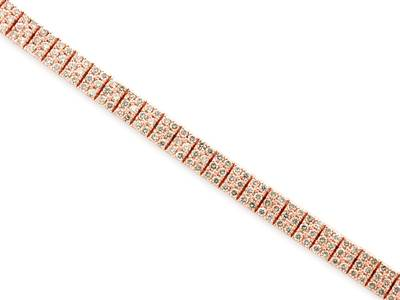 14K Strawberry Gold® Bracelet with Vanilla Diamonds® 5  5/8 cts. | DEKI 19