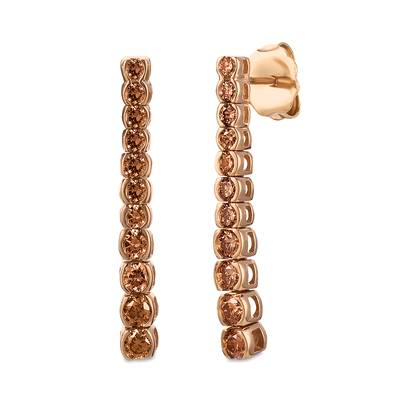 14K Strawberry Gold® Earrings with Chocolate Diamonds® 3/4 cts. | DEKI 553