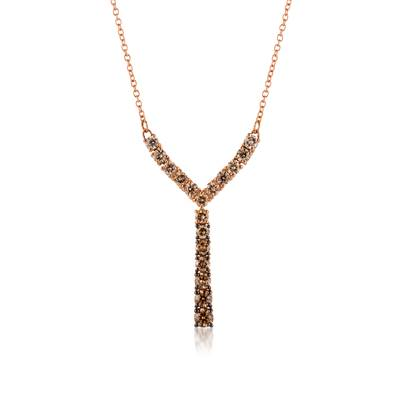 14K Strawberry Gold® Necklace with Ombre Chocolate Diamonds® 7/8 cts. | DEKI 557