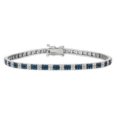 14K Vanilla Gold® Blueberry Sapphire™ 1 cts. Bracelet with Vanilla Diamonds® 1 cts. | DEKI 644
