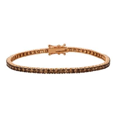 14K Strawberry Gold® Bracelet with Chocolate Diamonds® 3  1/4 cts. | DEKI 654