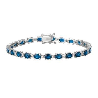 14K Vanilla Gold® Blueberry Sapphire™ 10 cts. Bracelet with Vanilla Diamonds® 1/2 cts. | DEKI 704
