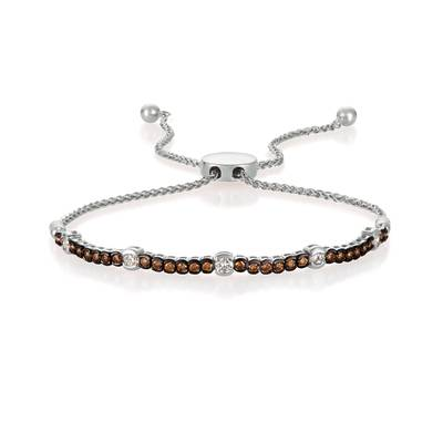 14K Vanilla Gold® Bolo Bracelet with Vanilla Diamonds® 1/3 cts., Chocolate Diamonds® 3/8 cts. | DEKI 710