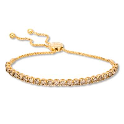 14K Honey Gold™ Bolo Bracelet with Nude Diamonds™ 4 cts. | DEKI 789