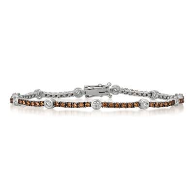 14K Vanilla Gold® Bracelet with Vanilla Diamonds® 1/2 cts., Chocolate Diamonds® 1  1/2 cts. | DEKI 791