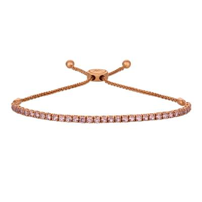 14K Strawberry Gold® Rose Spinel 2 cts. Bolo Bracelet | DEKI 812