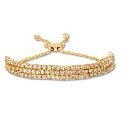 14K Honey Gold™ Bolo Bracelet with Nude Diamonds™ 6 cts. | DEKI 877CB