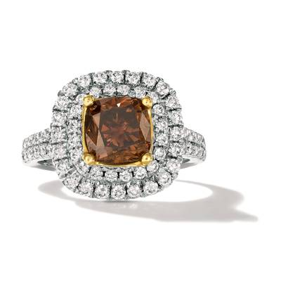 18K Two Tone Gold Ring with Chocolate Diamonds® 2  1/5 cts., Vanilla Diamonds® 1  1/6 cts. | FRAF 170