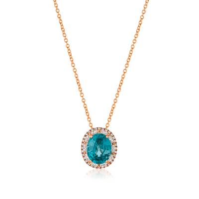 18K Strawberry Gold® Blueberry Zircon™ 6 cts. Pendant with Vanilla Diamonds® 7/8 cts. | FRAI 4