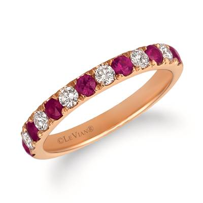 14K Strawberry Gold® Passion Ruby™ 1/2 cts. Ring with Vanilla Diamonds® 1/3 cts. | FRAT 49