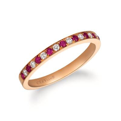 14K Strawberry Gold® Passion Ruby™ 1/5 cts. Ring with Vanilla Diamonds® 1/8 cts. | FRAT 51