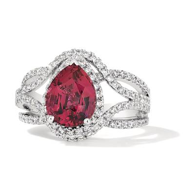18K Vanilla Gold® Passion Fruit Tourmaline™ 2  7/8 cts. Ring | FRBJ 35