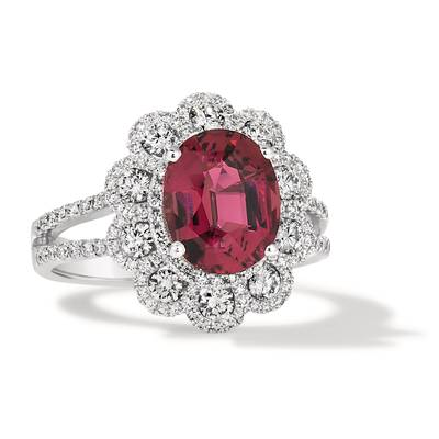 18K Vanilla Gold® Passion Fruit Tourmaline™ 2  7/8 cts. Ring | FRBJ 62