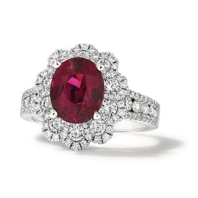 18K Vanilla Gold® Passion Fruit Tourmaline™ 3  1/2 cts. Ring | FRBJ 64