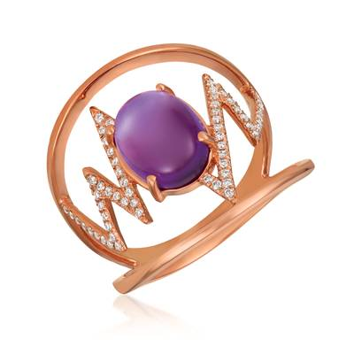 14K Strawberry Gold® Grape Amethyst™ 2 cts. Ring | GECR 92