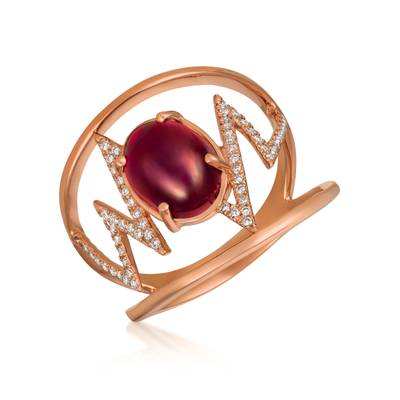 14K Strawberry Gold® Raspberry Rhodolite® 2  5/8 cts. Ring | GECR 96
