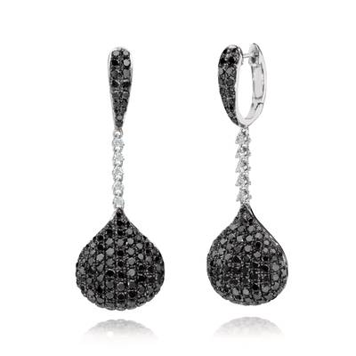 14K Vanilla Gold® Earrings with Blackberry Diamonds® 3  3/8 cts., Vanilla Diamonds® 1/8 cts. | GLAA 8