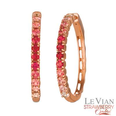 14K Strawberry Gold® Strawberry Ombré® 2 cts. Earrings | JECO 11