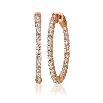 14K Strawberry Gold® Earrings with Nude Diamonds™ 2 cts. | JECO 16